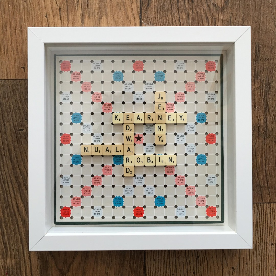 personalised Scrabble wall art