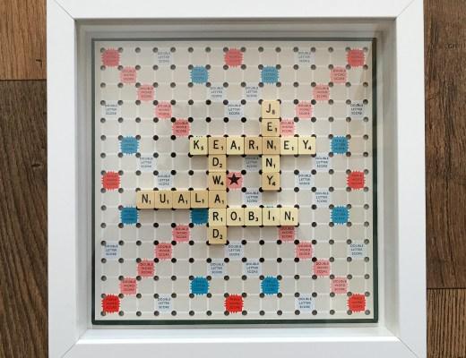 personalised Scrabble wall art