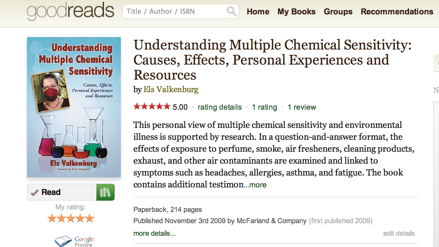 Chemical Allergies: a selection of sites