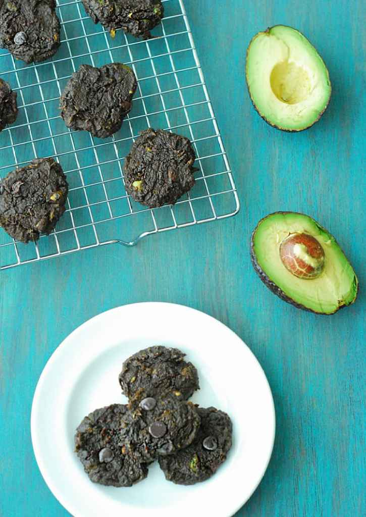 Avocado Chocolate Chip Cookies - grain free cookies without all the added sugar and carbs!