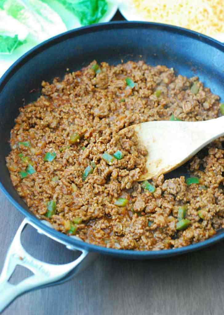 Sloppy Joes - perfect as a quick meal and it's still pretty healthy and low carb.