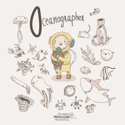 Самый милый алфавит «Профессии» от Александры Дикой