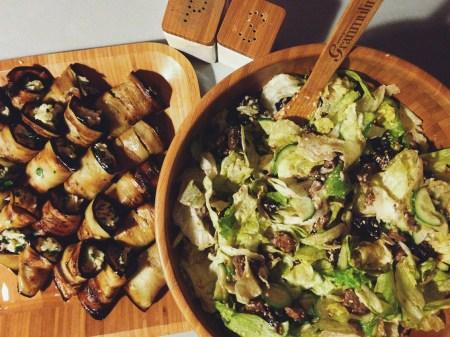 Готовим вместе: баклажанные рулетики и салат из говядины и чернослива