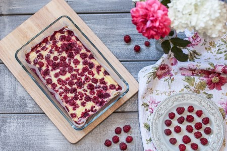 Готовим вместе: малиновый пирог
