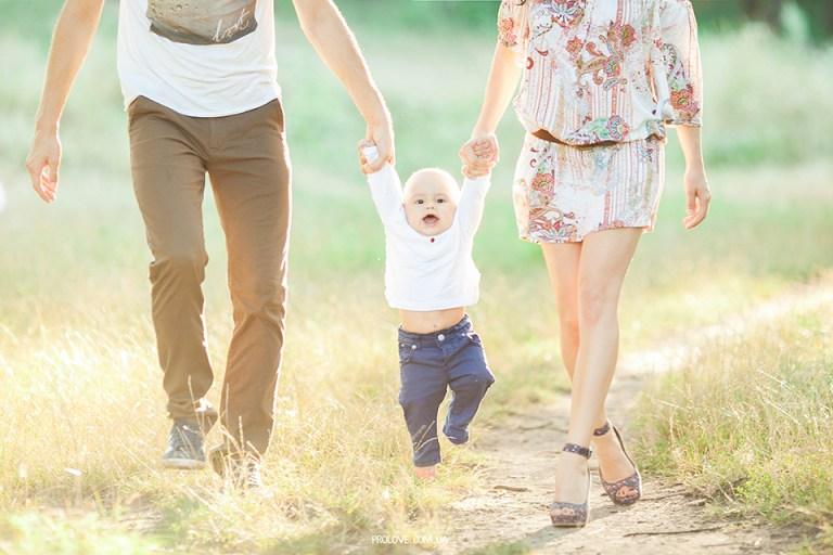 Вместе навсегда: семейная съемка Жени, Вани и Давида