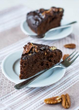 Торт Брауни с орехом пекан