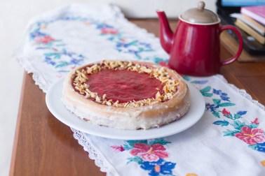 Домашний тортик с клубникой