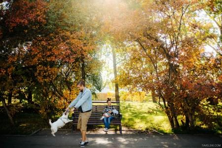 Семейное счастье: Никита и Катя, их сын и джек-рассел