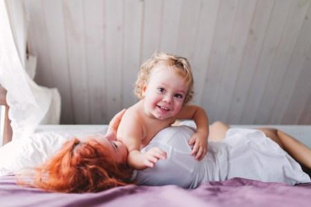 Мама и сын: ванильное утро с Ваней