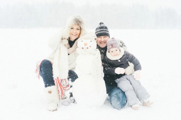 Семейное зимнее счастье: Лина и ее родители