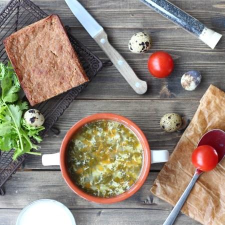 Рецепт супа из шпината и щавеля