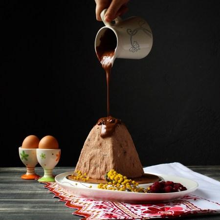 Рецепт шоколадной пасхи с вяленой клюквой