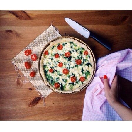 Рецепт киша с брокколи и сыром фета