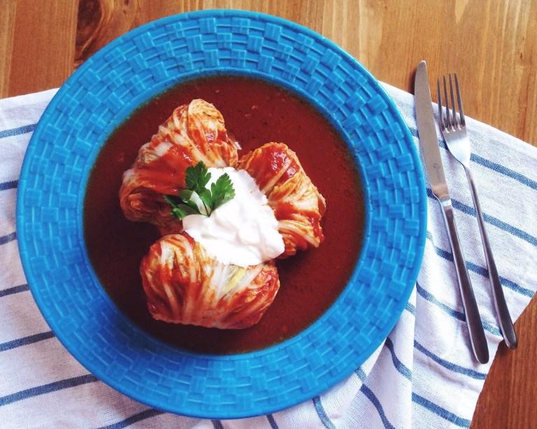 Быстрые рецепты от Вероники: мясные голубцы из китайской капусты с булгуром