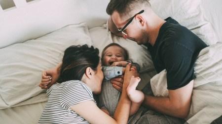 Андрей, Мария и маленький Тимофей.