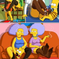 Bart Simpson enjoy mature chick