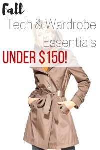 Fall Tech & Wardrobe Essentials Under $150