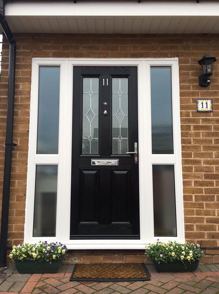 Black Kara Sliders UK Composite Door Sale