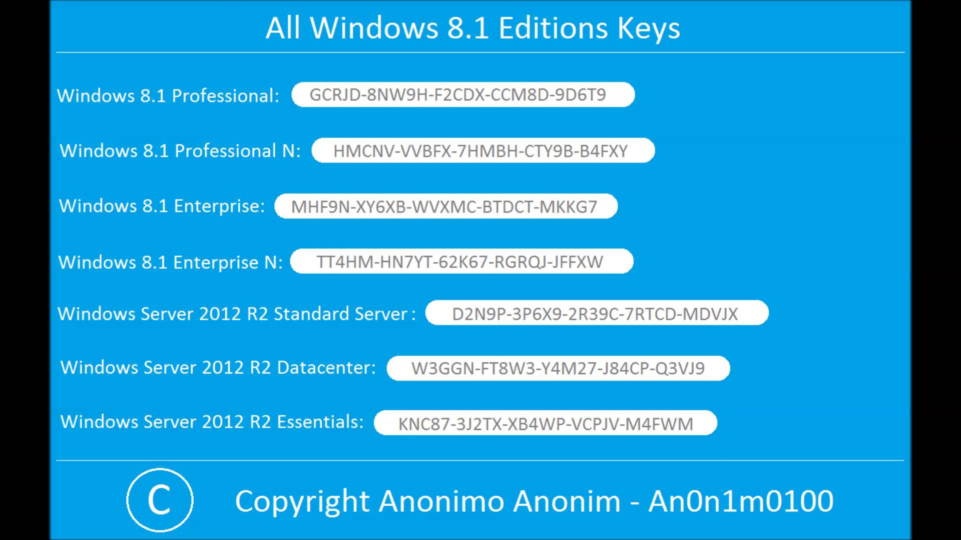 product key of windows 8.1 pro