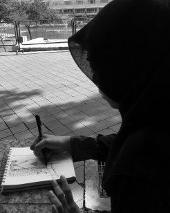 Sketching Kuala Lumpur City Park.