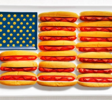 United States- hot dogs, ketchup and mustard