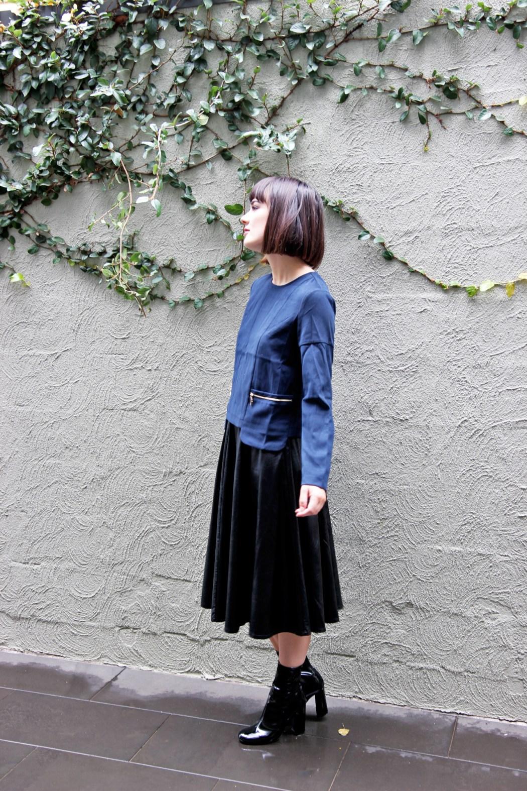 Kristen wears Minnow Top and Rockafella Skirt