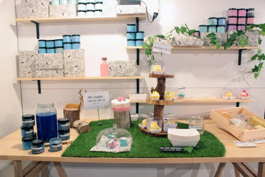One of the cake displays at Oh Deer Sugar
