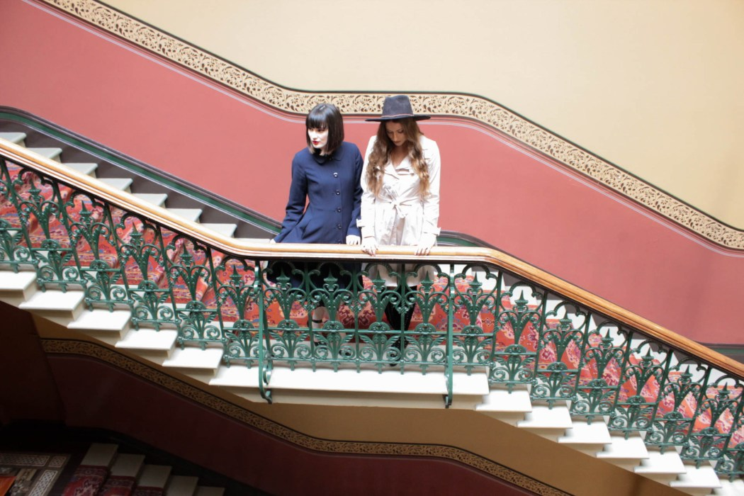 Mel and Kristen styling Review's 'Parlez Vous Francais' collection at The Hotel Windsor