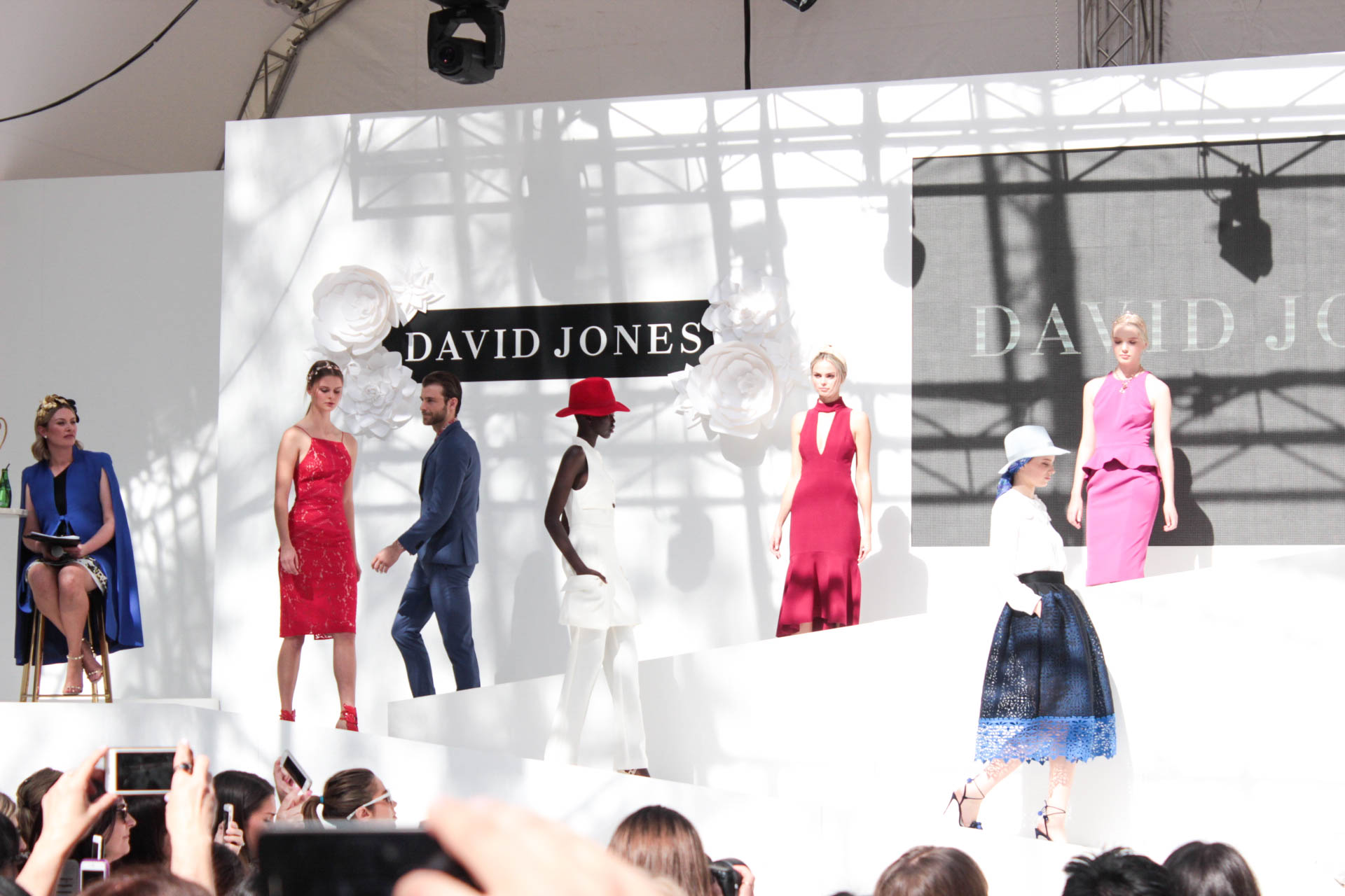 David Jones spring races runway