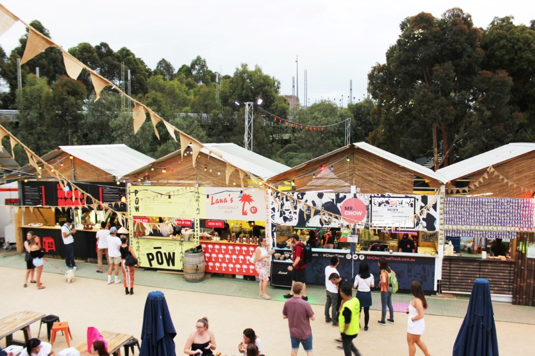 Just some of the funky food vendors at RCC Melbourne