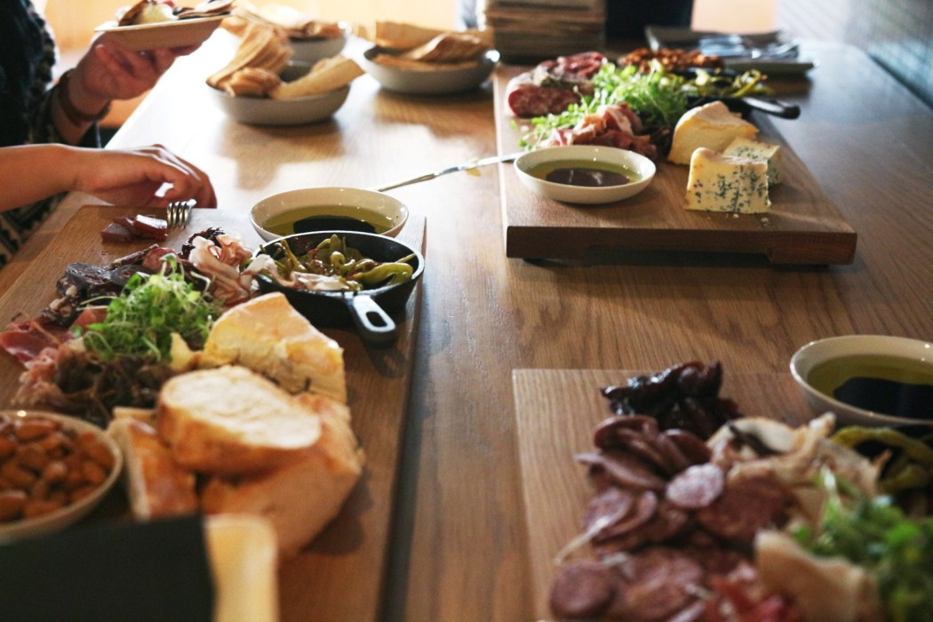 No wine tasting goes without a cheeseboard or three.