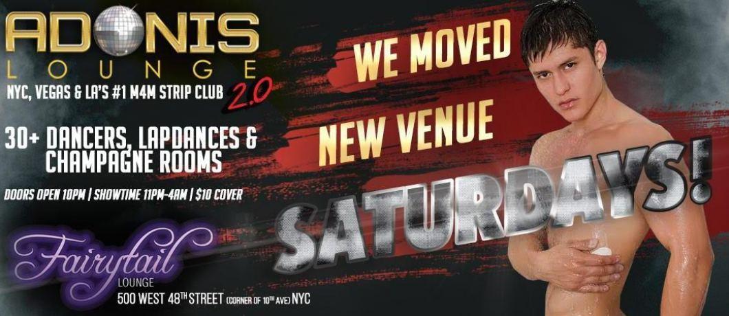 Adonis Lounge NYC Saturdays at Fairytail Lounge
