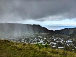 Rain on Easter Island