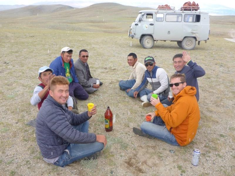 Loser buys beer in Western Mongolia