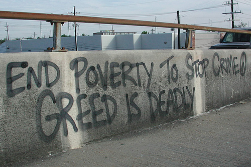 relationship between poverty and urban crime