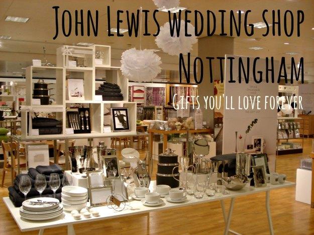 John Lewis Nottingham wedding shop