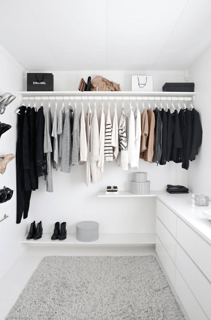 Declutter your wardrobe or closet this spring.