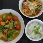 Thai Green Butternut Squash Curry and Thai Salad Recipe