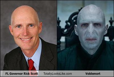 RIck Scott look like Voldemort