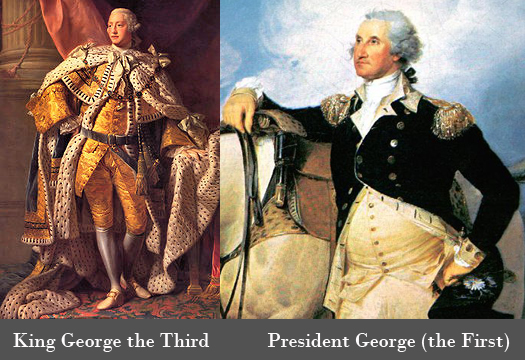 King George III and George Washington