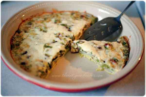 Vegetarian Brunch Frittata #recipe #PAMSmartTips #ad