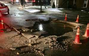Water main break causes brief water outage