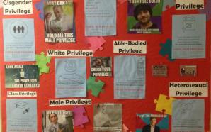The bulletin board in East Residence Hall last year. Photo courtesy Luke Weir.