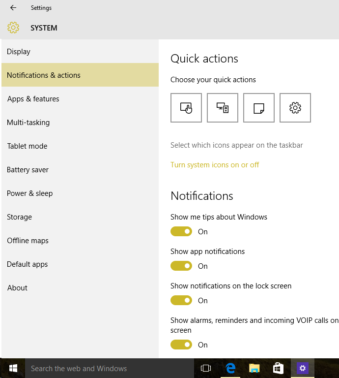How to Customize the Quick Settings in the Action Center