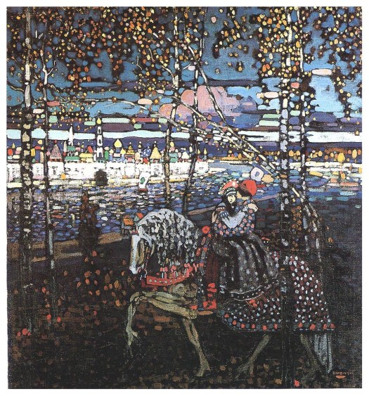 "Image of ""Couple Riding,"" by Wassily Kandinsky, 1906."