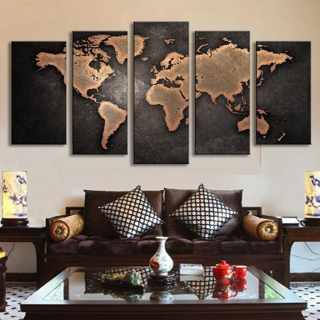 Sightly Pcs Abstract Wall Art Painting World Map Canvas Painting Withregard To Newest Custom Collection Custom Wall Accents Custom Wall Art Australia Custom Wall Art Nz custom Custom Wall Art