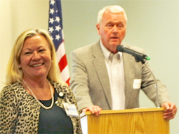Ms. Darland with Coast Hospital CEO Wayne Allen