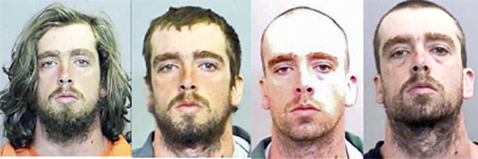 Keisel, in four prior booking photos