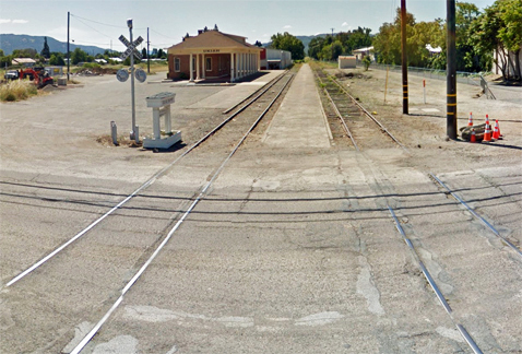 Abandoned train depot: proposed site of new courthouse