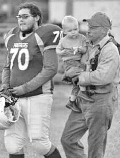 Bobby Kuny (L) with Grandad Danny Kuny